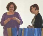 PAPCG President Eileen presents her winning ticket.