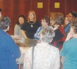 October 2012 Meeting with Guest Artist Kathleen Dustin during show and tell