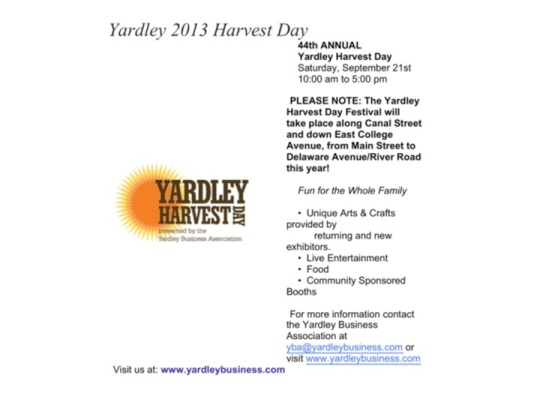 Come see PAPCG Member, Joyce Miskowitz,  Show at Yardley Harvest Show September 21