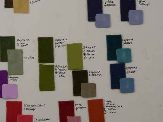 Mixing colors with Ellen Marshall and Emily Squires Levine