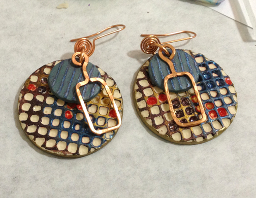 Susan made some groovy earrings.